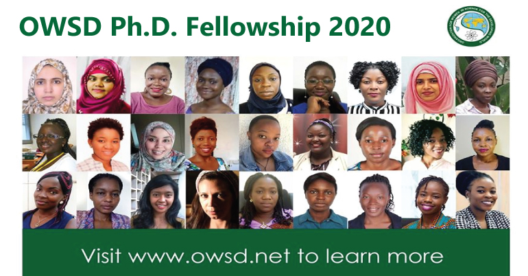 OWSD Ph.D. Fellowship 2020