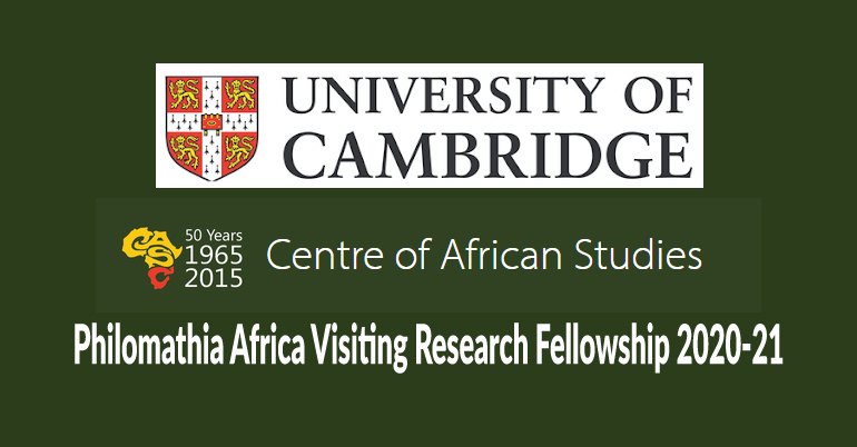 Philomathia Africa Visiting Research Fellowship 2020-21