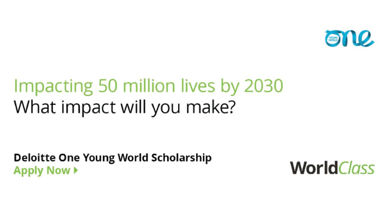 Deloitte - One Young World Scholarship 2020