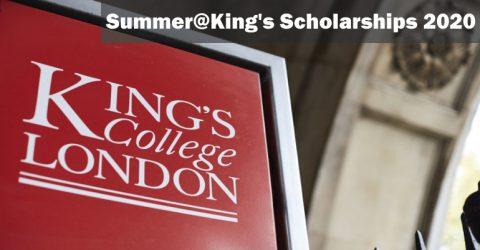 Summer@King's Scholarships 2020 by King's College London