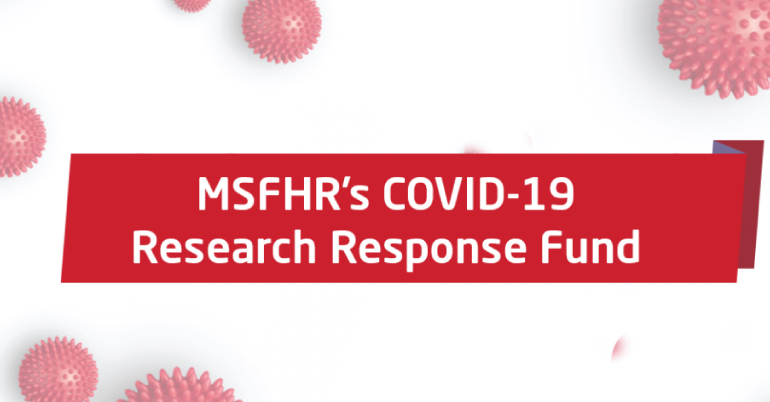 The MSFHR COVID-19 Research Response Fund