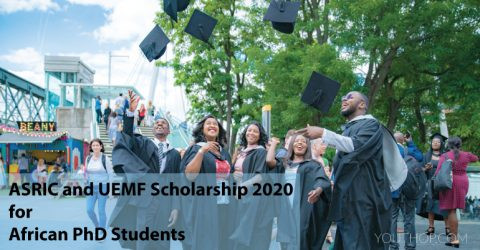 ASRIC and UEMF Scholarship 2020 for African PhD Students