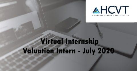 HCVT Valuation Intern – July 2020 (Virtual Internship)
