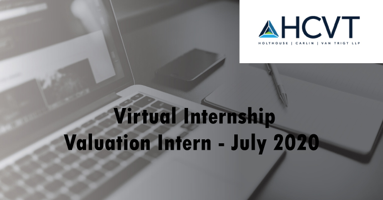 HCVT Valuation Intern - July 2020 (Virtual Internship)