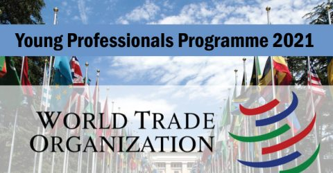 World Trade Organization Young Professionals Programme for 2021