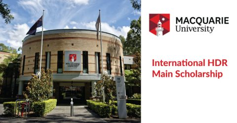 International HDR Main Scholarship at Macquarie University in Australia 2020