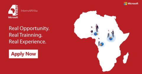 Microsoft Interns 4Afrika Program 2020 in South Africa