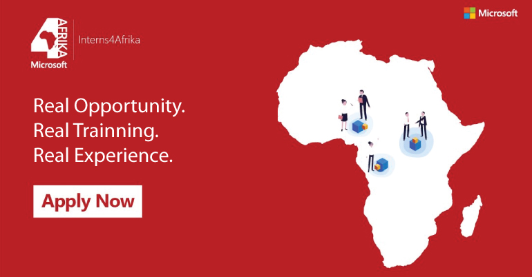 Microsoft Interns 4Afrika Program 2020