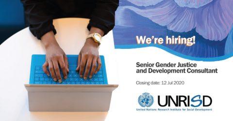 UNRISD is hiring a Senior Gender Justice and Development Consultant