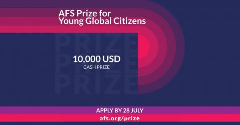 AFS Prize for Young Global Citizens 2020 (Prize money US$10,000)
