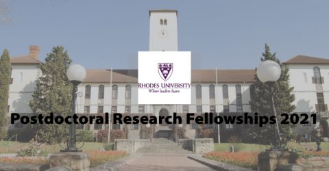 Rhodes University Postdoctoral Research Fellowships 2021