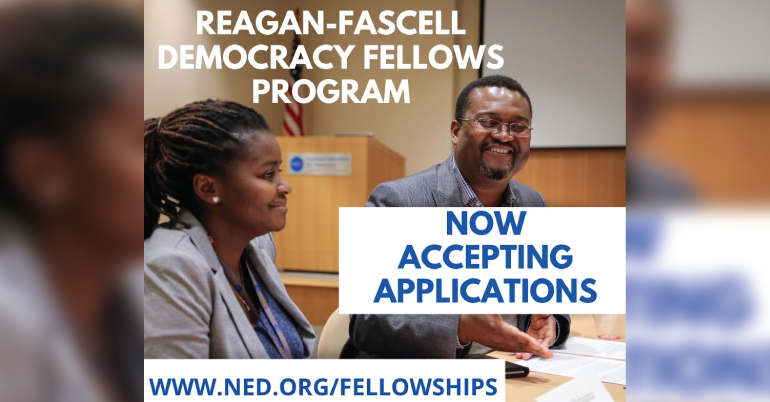 Reagan-Fascell Democracy Fellowships Program 2020-21
