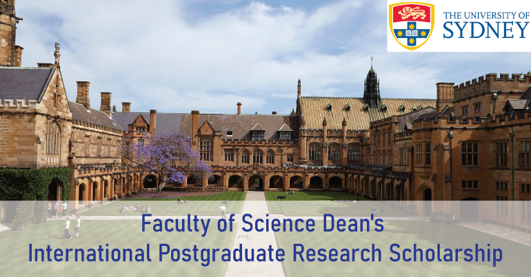 Faculty of Science Dean's International Postgraduate Research Scholarship