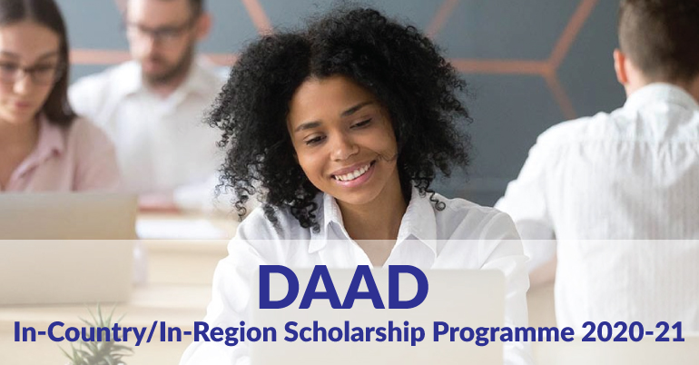 DAAD In-Country/In-Region Scholarship Programme 2020-21v