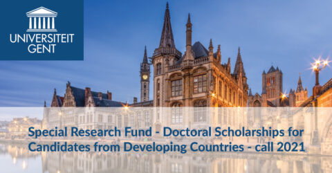 Special Research Fund: Doctoral Scholarships 2021 for Candidates from Developing Countries