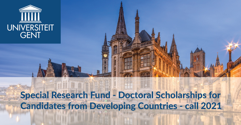 Special Research Fund - Doctoral Scholarships for Candidates from Developing Countries - call 2021