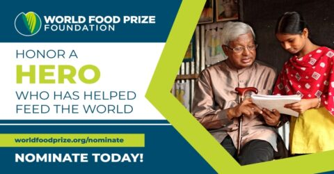 Call for Nomination: World Food Prize 2021