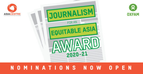 Call for Application: Journalism for an Equitable Asia Award 2020-21 in Thailand