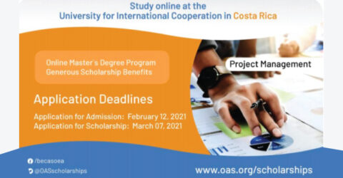 2021 Masters in Project Management Scholarship- OAS/University for International Co-operation