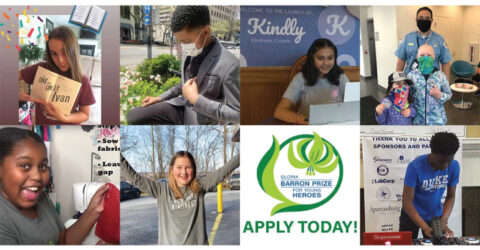Apply to the Gloria Barron Prize 2021 for Young Heroes | Barron Prize