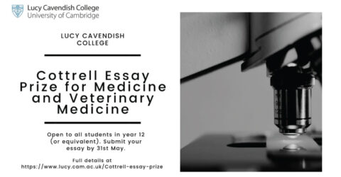 Cottrell Essay Prize for Medicine and Veterinary Medicine 2021
