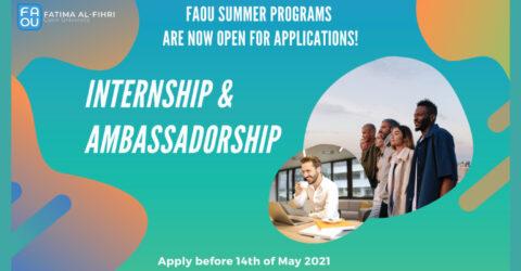 Fatima Al-Fihri (FAOU) Internship & Ambassadorship Program – Summer 2021