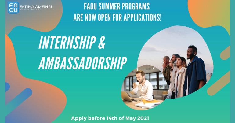 Fatima Al-Fihri (FAOU) Internship & Ambassadorship Program - Summer 2021