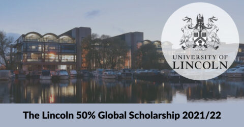 The Lincoln 50% Global Scholarship 2021/22 in University of Lincoln