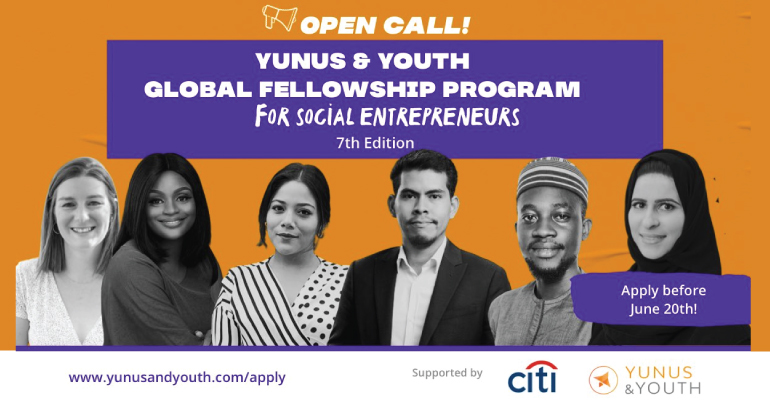 Yunus&Youth Global Fellowship Program for Social Entrepreneurs 2021