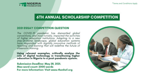 6th Annual Scholarship Essay Competition- The Nigeria Higher Education Foundation