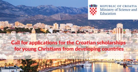 Call for Applications for the Croatian Scholarships 2021/22 for Young Christians from Developing Countries