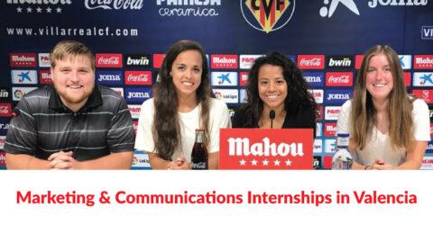Marketing & Communications Internships in Valencia, Spain