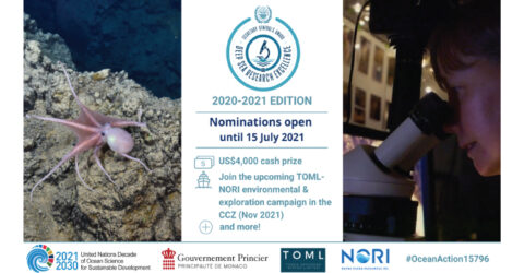 SG's Award for Excellence in Deep-Sea Research 2020-21 | International Seabed Authority