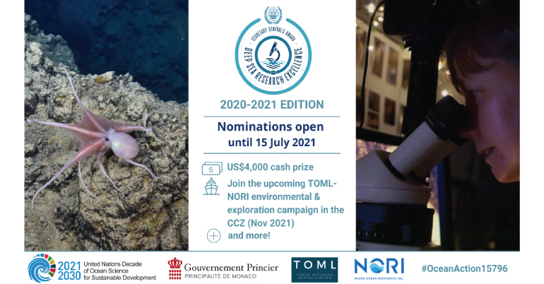 SG's Award for Excellence in Deep-Sea Research 2020-21