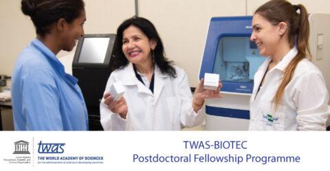 TWAS-BIOTEC Postdoctoral Fellowship Programme 2021