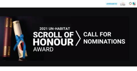 Call for Nominations: UN-Habitat Scroll of Honour Award 2021