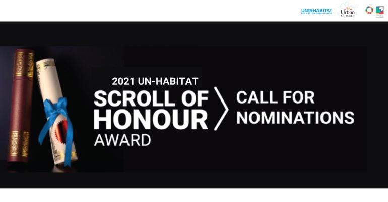 UN-Habitat Scroll of Honour Award 2021
