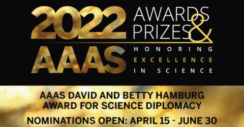 AAAS David and Betty Hamburg Award for Science Diplomacy 2022
