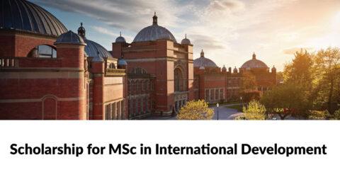 MSc in International Development (with Mo Ibrahim Foundation Internship) by University of Birmingham