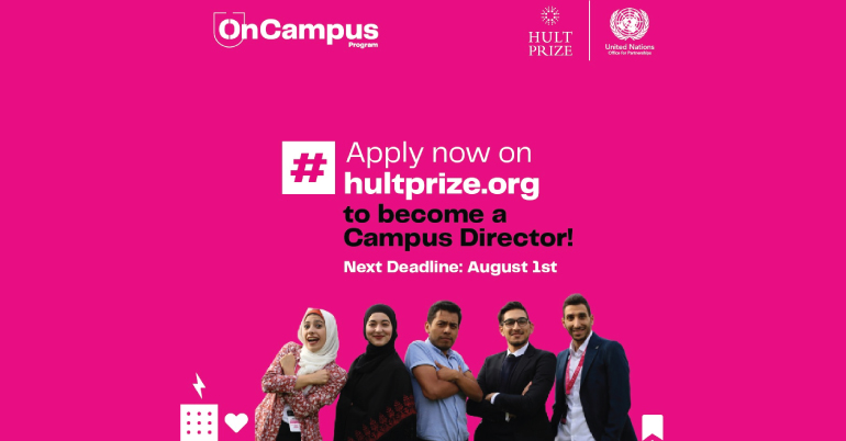Apply to be the Leader of the Hult Prize Movement at your University!