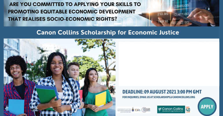Canon Collins Scholarship for Economic Justice