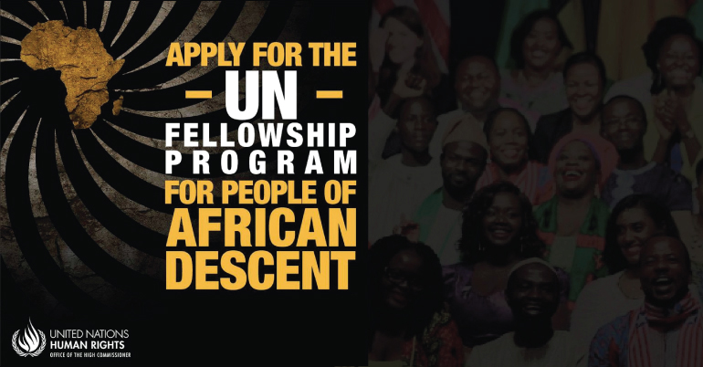 UN OHCHR Fellowship Programme for People of African Descent 2021