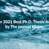 Water 2021 Best Ph.D. Thesis Award by The journal Water