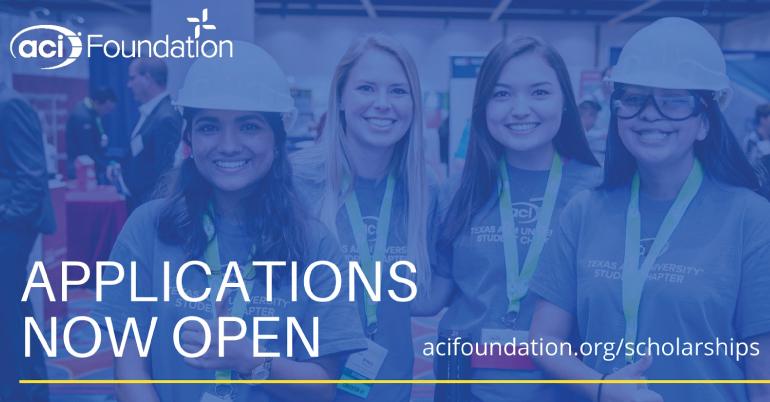 ACI Foundation Fellowships and Scholarships 2022-23