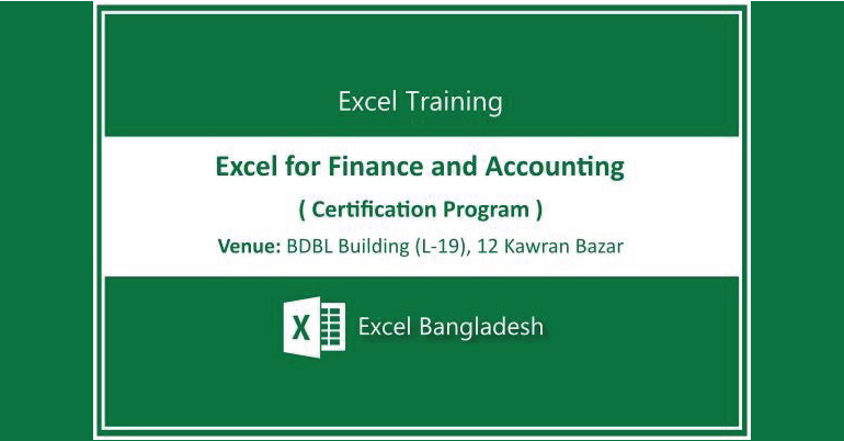 Microsoft Excel For Finance And Accounting Course 2017 In Dhaka