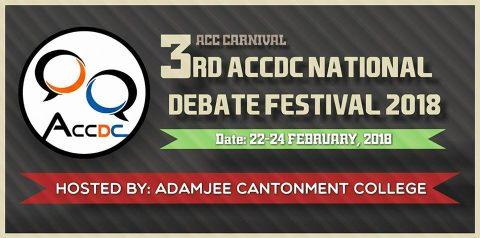 3rd ACCDC National Debate Festival 2018 in Dhaka
