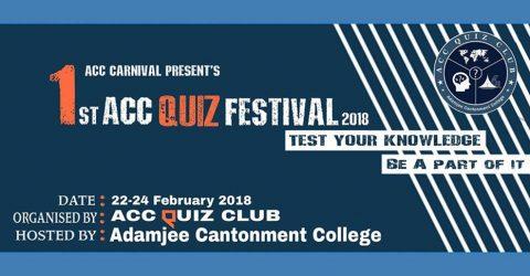 ACC Carnival – 1st ACC Quiz Festival 2018 in Dhaka