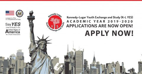 Kennedy-Lugar Youth Exchange and Study (K-L YES) Program 2019-20 in USA
