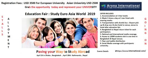 Education Fair : Study Euro Asia World – 2019 in Dhaka