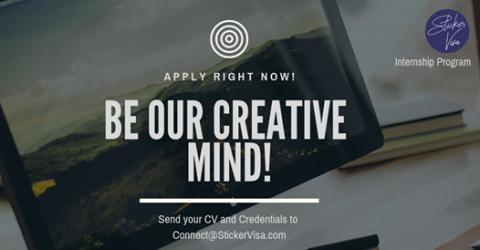 Internship Opportunity at Sticker Visa 2019
